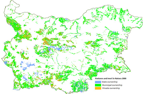 Ownership of pastures and meri in Natura 2000 zones
