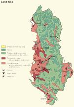Land use map of Albania (Grida 2000)